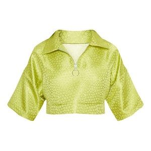Pretty Little Thing Lime Green Crop top